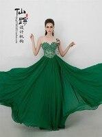 Бесплатная доставка Модный халат de soiree 2019 новые модные пикантные милое Бандажное зеленое; vestido de festa вечерние платье подружки невесты, плать
