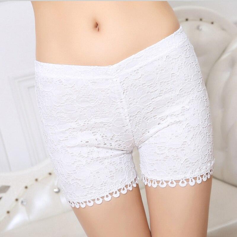 Fashion Women Summer Black / White Legging Large Size Lace Pants Female High Quality Elastic Thin Lace Leggins Mujer 8ZAA150