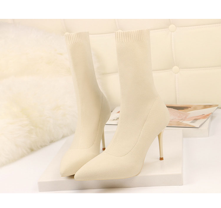 HTB14MoEaJzvK1RkSnfoq6zMwVXas - SEGGNICE Sexy Sock Boots Knitting Stretch Boots High Heels For Women Fashion Shoes Spring Autumn Ankle Boots Booties Female