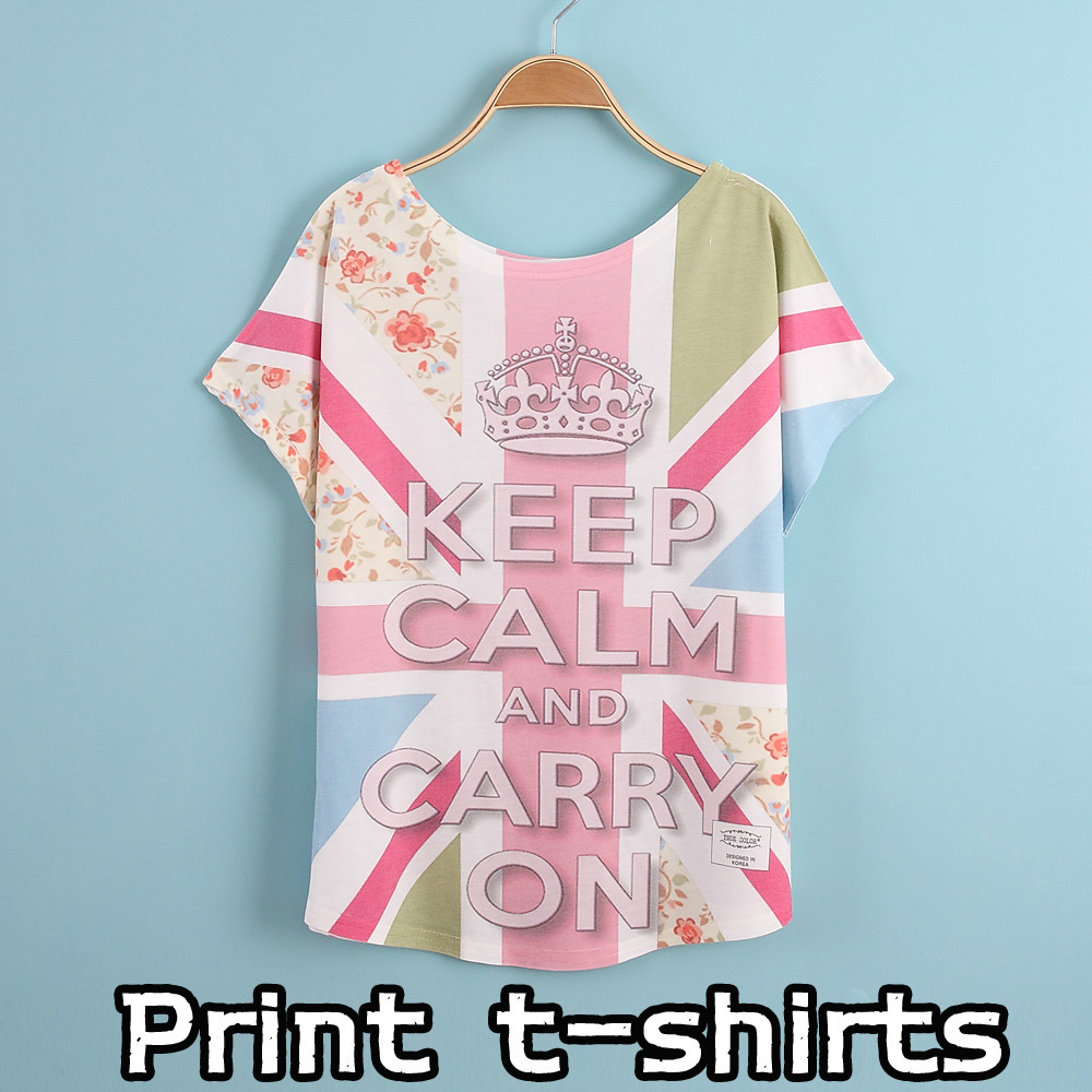 Summer style new printing t shirts short sleeves women 39 s t for T shirt print express