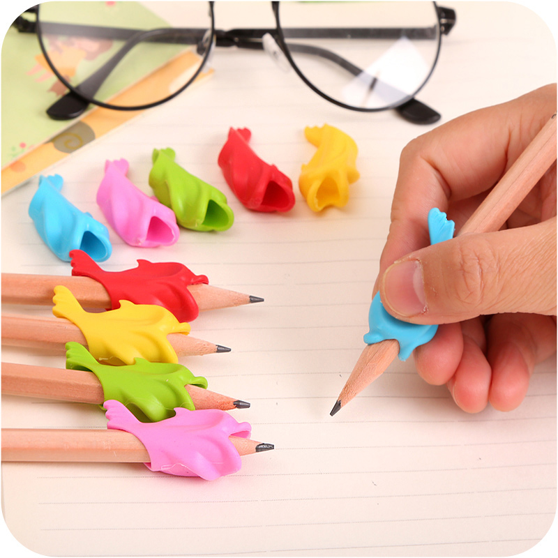 20 Pcs High Quality Baby Fish Dolphins Grip Pen Implement Children's Pencil Grip Correct Posture To Hold Pen