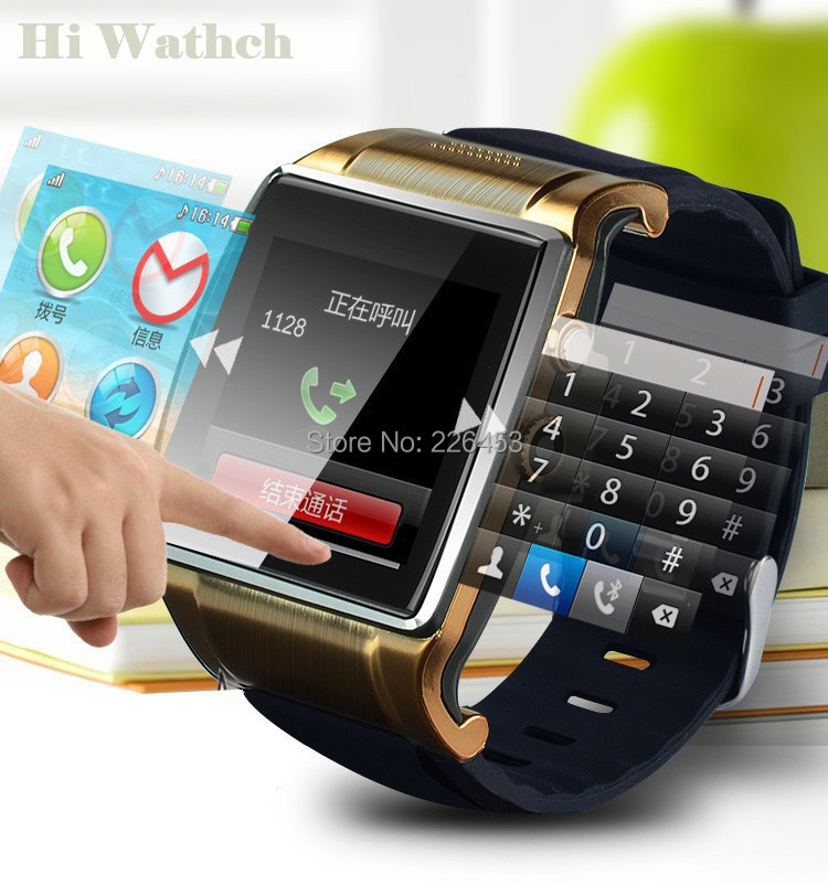 2015 New Bluetooth Smart Gold Color Watch Mobile Phone Quad Band SIM For Samsung S5 Sony Android Camera FM Radio In Mens Costumes From Novelty