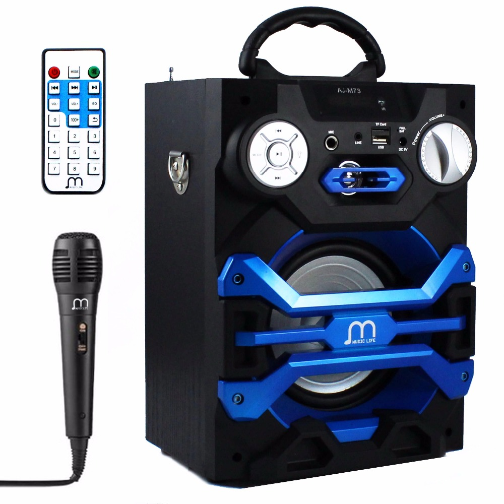 Bluetooth Speaker Karaoke Portable with Microphone Wireless with FM Radio MP3 Portable Output 20W High Power for Party BBQ niorfnio portable 0 6w fm transmitter mp3 broadcast radio transmitter for car meeting tour guide y4409b