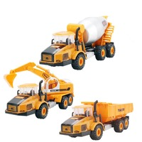 3pcs/set Alloy car model toy car machine excavation car transport mixer Dump Truck toys Christmas gift Free shipping