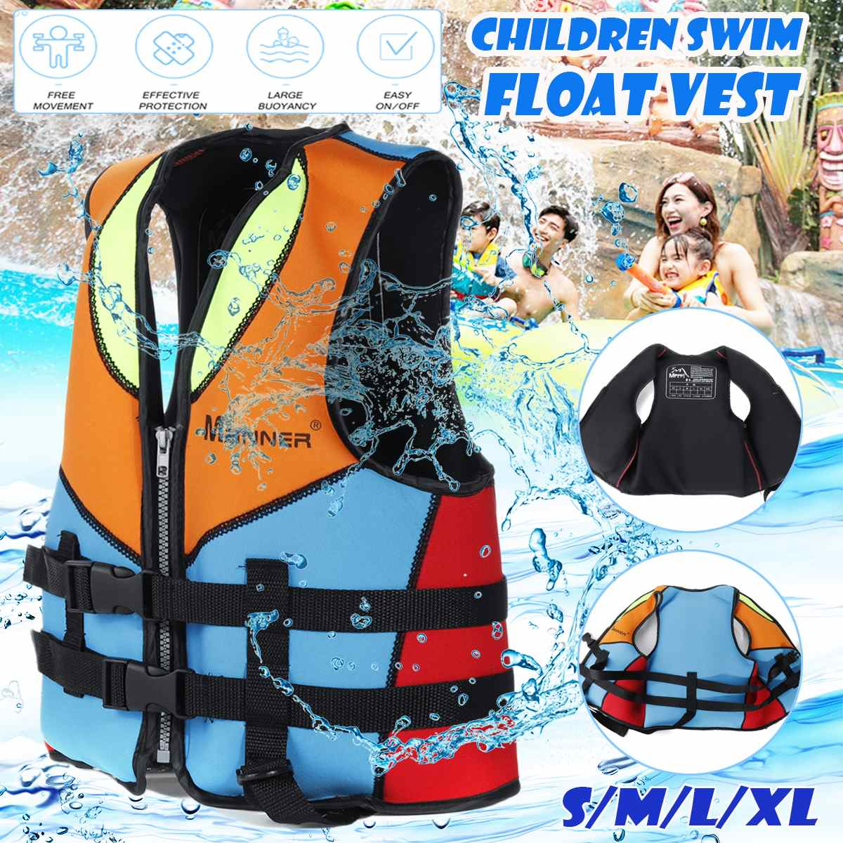 Baby Kids Floating Vest Safety Life Jacket Swimming Surfing Fishing Rafting Boat