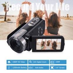 كاميرا فيديو رقمية HDV-302P 24MP 1080P كامل HD كاميرا رقمية 16X التكبير الرقمي 3.0 بوصة المضادة للاهتزاز 3.0MP CMOS كاميرا فيديو DV