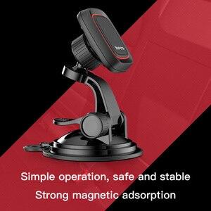 Image 2 - HOCO cam montaj araba telefon tutucu Samsung S9 S8 360 pano araba manyetik tutucu iPhone Xs için telefon araba standı