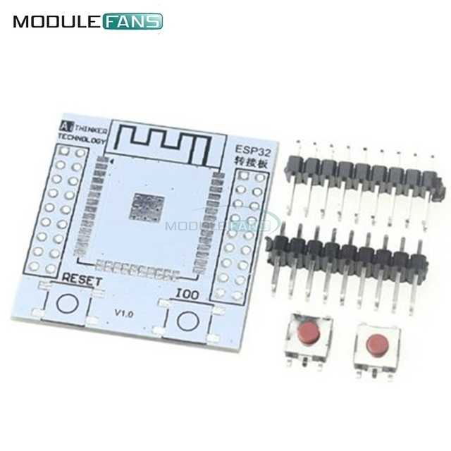 5Pcs ESP32 ESP32S Wireless WIFI Bluetooth Module For Arduino Adapter Board Support For ESP-32 ESP-32S Pinboard Convertor Module