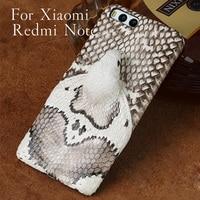 Funda de teléfono de marca Wangcangli  carcasa de teléfono con cabeza de serpiente real para Xiaomi Redmi Note  procesamiento personalizado manual completo