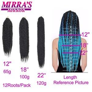 "Image 5 - Mirra의 거울 6pcs 트위스트 헤어 12 ""18"" 22 ""하바나 트위스트 크로 셰 뜨개질 머리 끈 합성 머리 2x12 가닥/팩"