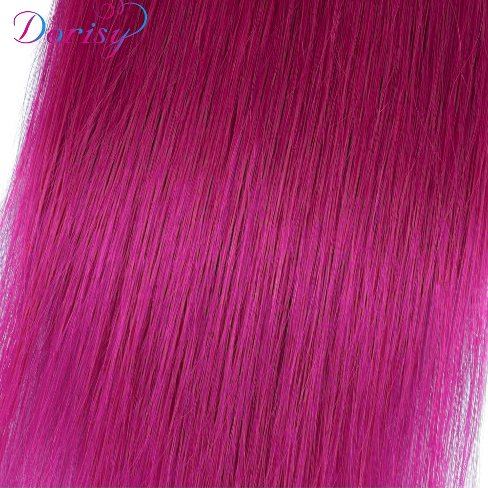 Dorisy Hair 100% Human Hair Bundles Brazilian Straight Hair Weave 1 Piece Only 8-26 Inches 1B/Pink Non Remy Hair Extensions