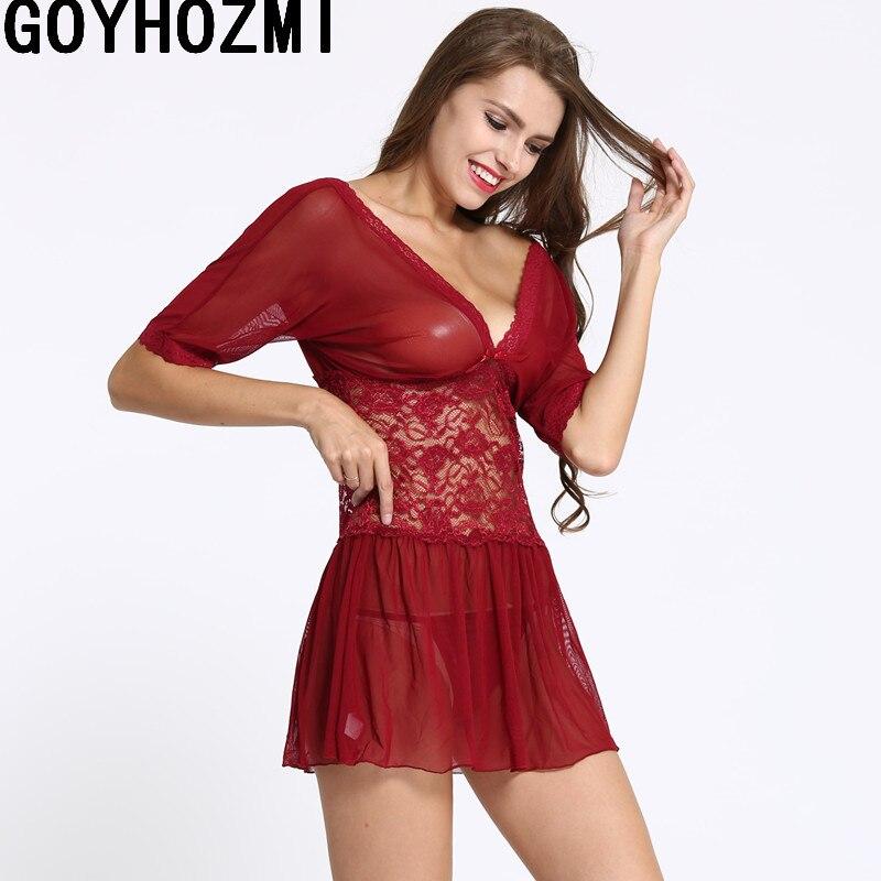 Women's Clothing Women's Sets Deep V sexy red dress women intimates hot spandex slip