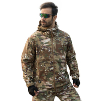 Shark Skin Military Jacket Men Softshell Waterpoof Camo Clothes Tactical Camouflage Army Hoody Jacket Male Winter