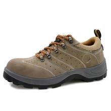 Легкие мужские кроссовки со стальным носком для защиты рабочего