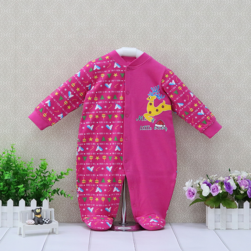 Little Q Long Sleeve Baby Pure Cotton Clothes Newborn One Piece Spring Long Sleeve Boys   Rompers   Kids Sleeping Girls Clothing