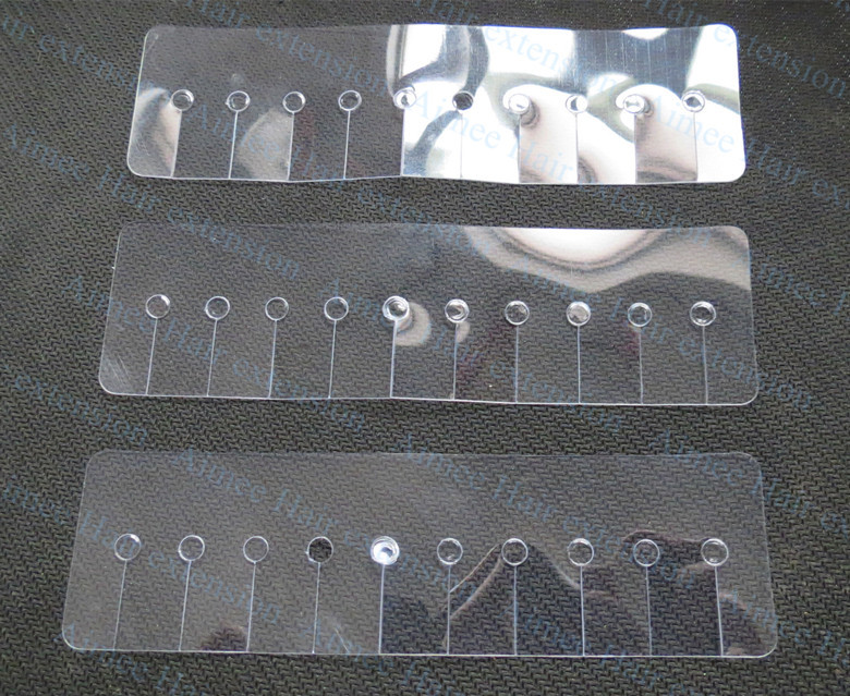 Free shipping 100pcs Rectangle hair shield disc(10hole)/Plastic heat fusion protector shield template for I tip hair extension