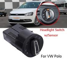 AUTO Headlight Fog lights Controller Switch Light Sensor Module For VolksWagen Polo