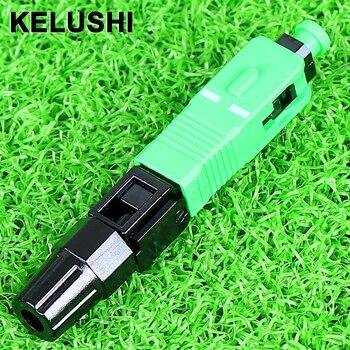 KELUSHI 100 piezas SC un P C conector rápido/fibra óptica conector fast/utiliza cable de fibra conector rápido