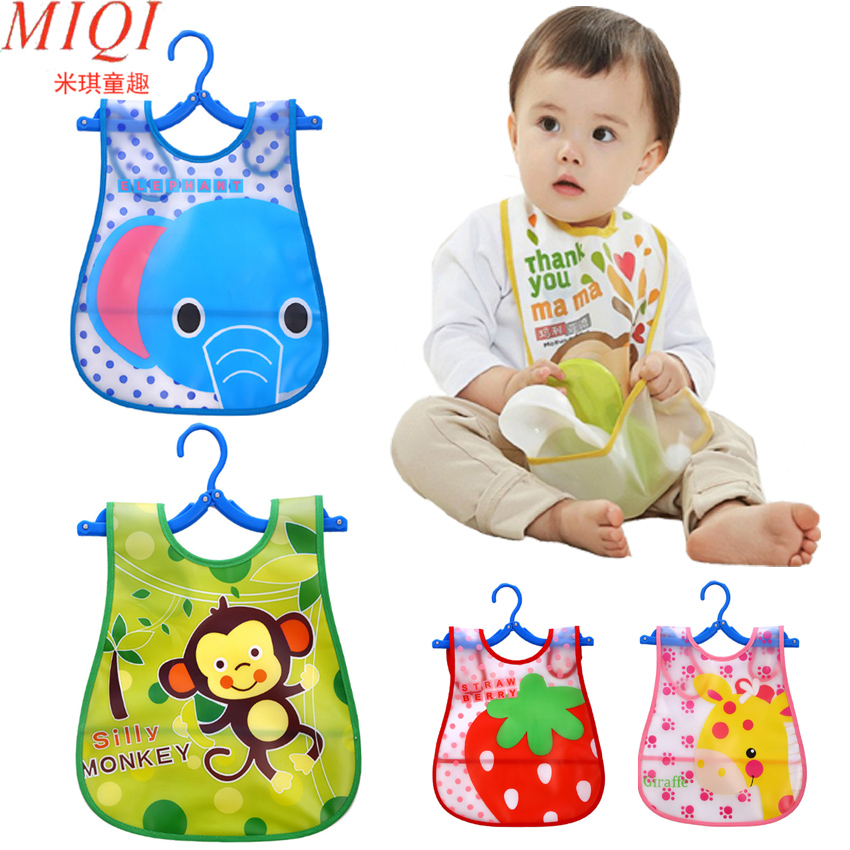 Cartoon Baby Bibs Waterproof Newborn Bandanas Feeding Baby Burp Cloths Girls Boys Saliva Towel Print Apron 2 layers newborn cartoon colorful baby boy girl bibs infant soft cotton toddler animal burp cloth waterproof saliva scarf towel