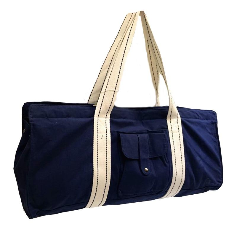 Waterproof Canvas Yoga Bag 100% Cotton Pria Dan wanita Luar Kebugaran - Kebugaran dan binaraga - Foto 2