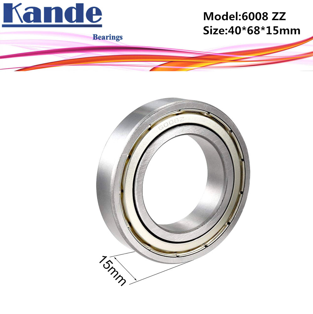 6008 ZZ Bearing 2pcs ABEC-5 High quality 6008 2Z Single Row Deep Groove ball bearing 6008-2Z 40x68x15 mm6008 ZZ Bearing 2pcs ABEC-5 High quality 6008 2Z Single Row Deep Groove ball bearing 6008-2Z 40x68x15 mm