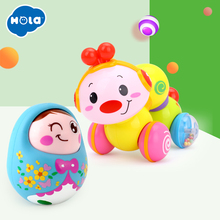 Купить с кэшбэком Cute Baby Rattles Chick Tumbler Doll Baby Toys Sweet Bell Music Light poly Learning Education Toys Gifts Baby Bell Baby Toys