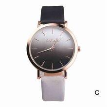 2018 Fashion WristWatch Retro Rainbow Design Women Dress Watch Quartz Leather  Watches gift for lovers Montre Relogio  #D