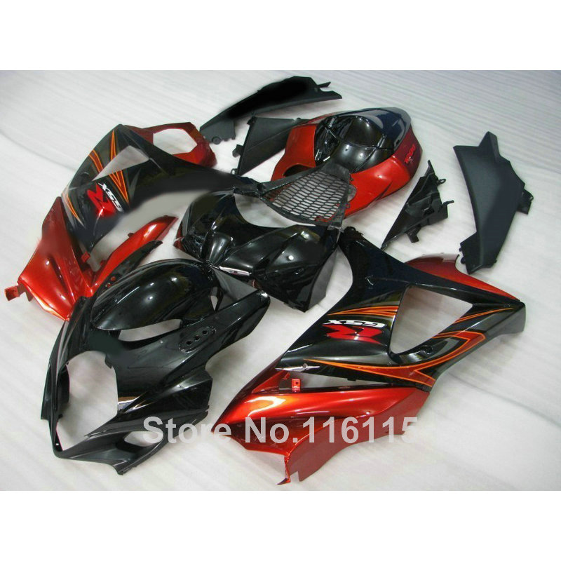 ABS Motorcycle parts for SUZUKI GSXR 1000 K7 K8 07 08 fairing kit GSXR1000 2007 2008 red black fairings set JS90 abs plastic fairing kit for suzuki gsxr1000 2007 2008 k7 gsxr 1000 07 08 red black moto fairings set cb34 7 gifts