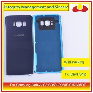Image 3 - 50 pièces/lot pour Samsung Galaxy S8 G950 G950F SM G950F boîtier batterie porte arrière couvercle en verre coque châssis