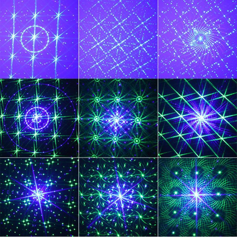 Мини лазерный проектор звук Управление Вращающийся партии диско DJ Music лазерный свет этапа Рождество Свадьба лампа с LED Blue Lights