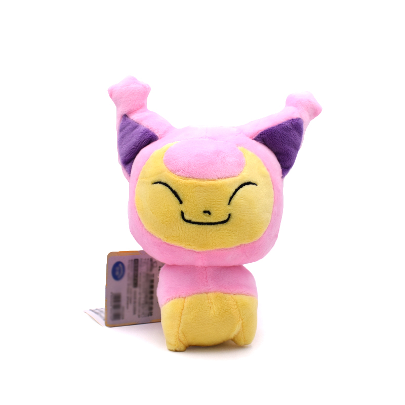 Kawaii 18cm Skitty Pikachu Plush Toy High Quality Soft Stuffed Anime Doll For Children's Christmas Gifts 22cm pikachu plush toys high quality cute plush toys children s gift toy kids cartoon peluche pikachu plush doll christmas gifts
