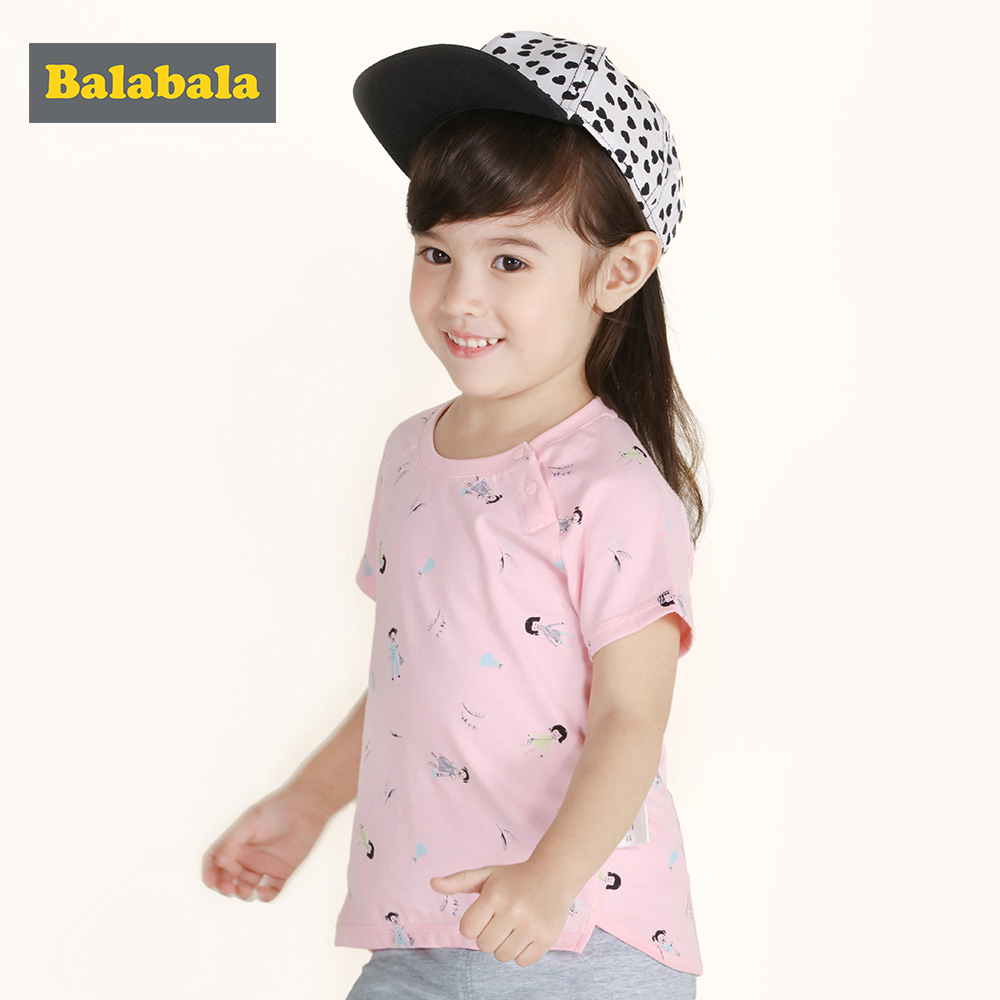 Balabala Filles t-shirt de Haute qualité 100% coton t-shirts t-shirts enfants doux de bande dessinée imprimé enfants d'été vêtements shorts t-shirts