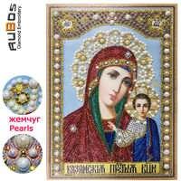 RUBOS Diy 5D Diamant Malerei Perlen Unsere Dame Kazanskaya Icons Diamant Stickerei Kazan Beadwork Religion Perle Bohrer Teil Neue