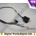 Módulo de la cámara ip cctv cable de alimentación de vídeo con puerto rj45 y dc 12 v, cámara ip de apoyo cola de alambre 720 p 1080 p 3/4/5/6mp