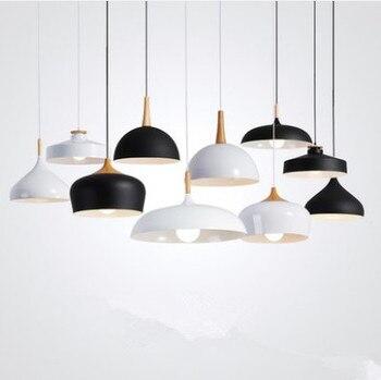 LED Pendant Lampu/Lampu Gantung Modern Hanglamp Suspensi Aluminium Luminer Kayu Gantung Lampu Dapur Ruang Makan D73