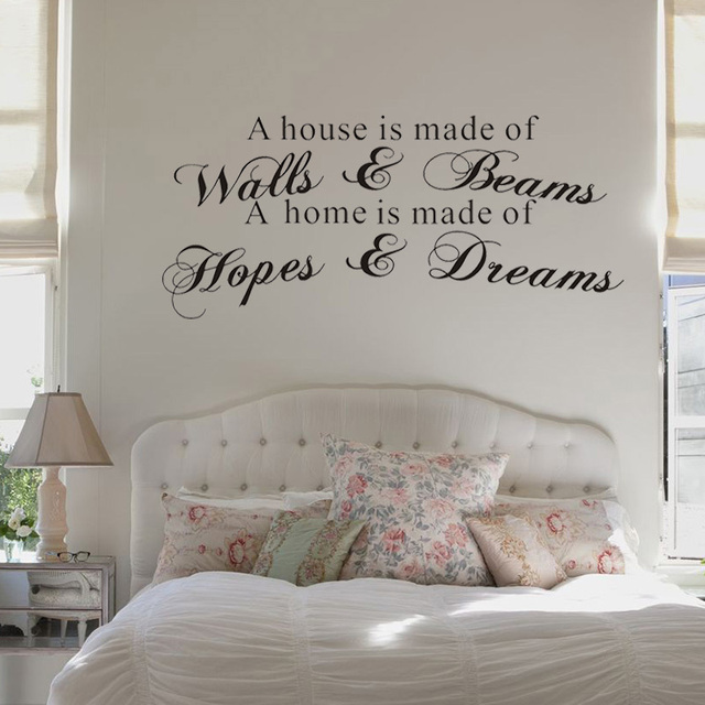 mix wholesale order a house is made of walls & beams wall sticker