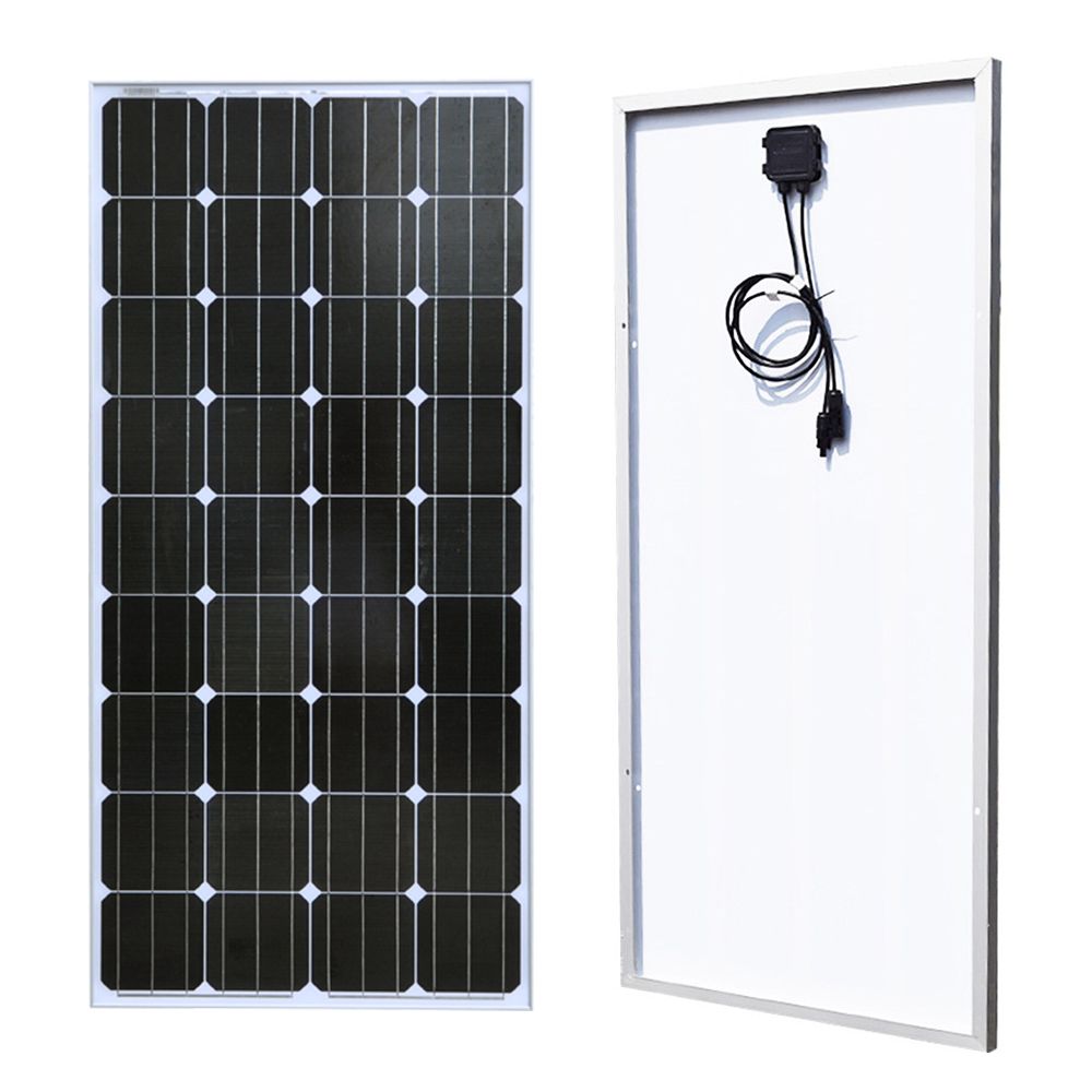 BOGUANG 18V 100w Monocrystalline silicon cell solar panel module Tempered glass Aluminum frame for 12v battery