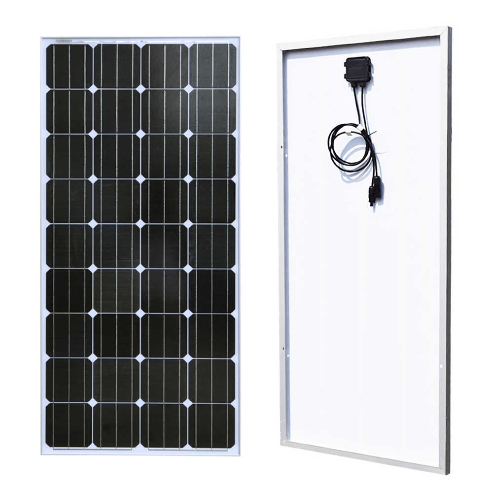 BOGUANG 18V 100w Monocrystalline silicon cell solar panel module Tempered glass Aluminum frame for 12v battery  power charger