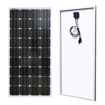 BOGUANG 18V 100w Monocrystalline silicon cell solar panel module Tempered glass Aluminum frame for 12v battery  power charger - DISCOUNT ITEM  0% OFF All Category
