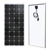 BOGUANG 18V 100w Monocrystalline silicon cell solar panel module Tempered glass Aluminum frame for 12v battery power charger