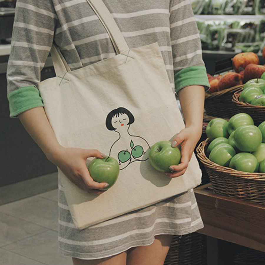 MOREUSEE fresh and original cotton apple bra shoulder bags for girls in FRUIT BRA series(FUN KIK) fruit quality traits in apple