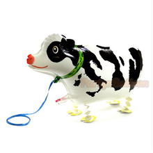 Cow font b Pet b font Walking Balloon Baby Shower Foil Balloon Air Walker Party Birthday
