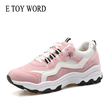 Buy E TOY WORD Fashion Women Sneakers Shoes Pink Chunky  Sneakers Platform Breathable zapatillas mujer Ladies Casual Shoes Size 40 directly from merchant!