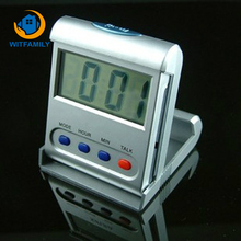 Portable LED Variety Sounds Alarm Clock LCD Display Electronic Snooze Desktop Digital Table Clocks Foldable Alarm Clock