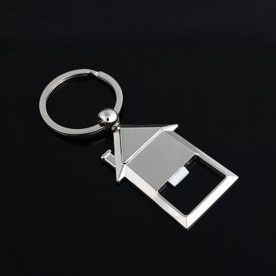 Акула ключ модель открывалка для бутылок Брелок Металлический цинковый сплав Подвеска для ключей ручной брелок в виде ступни подарок логотип на заказ 3 шт./лот - Цвет: house