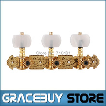 Alice AOS-020V1P Classical Guitar Tuning Keys Gold-Plated Tuning Pegs Tuners Machine Head 6 pegs/set