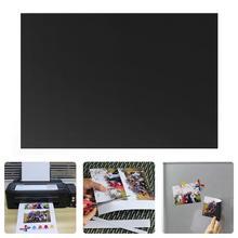DIY фото струйная бумага для печати A4 Черная магнитная бумага листовой холодильник магнитные наклейки отделка бумага для принтера