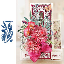 Pressed Rose Leaves Metal Cutting Dies for Scrapbooking and Cards Making Paper Craft New 2019