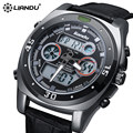 Liandu moda homens relógio à prova d' água led sports watch militar resistente ao choque dos homens quartzo analógico digital watch relogio masculin