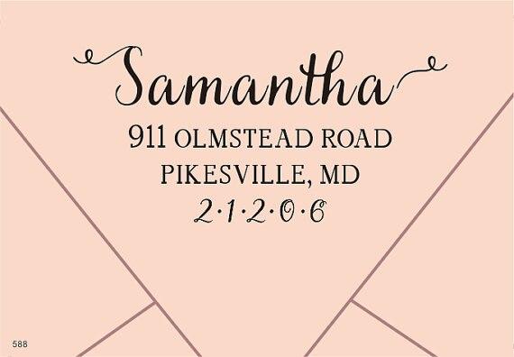 Return Address Custom Seal for Wedding Invitation Personalized